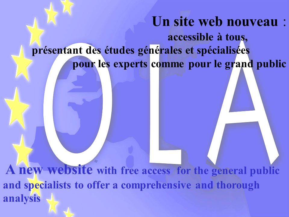 Un site web nouveau : accessible à tous, présentant des études générales et spécialisées.