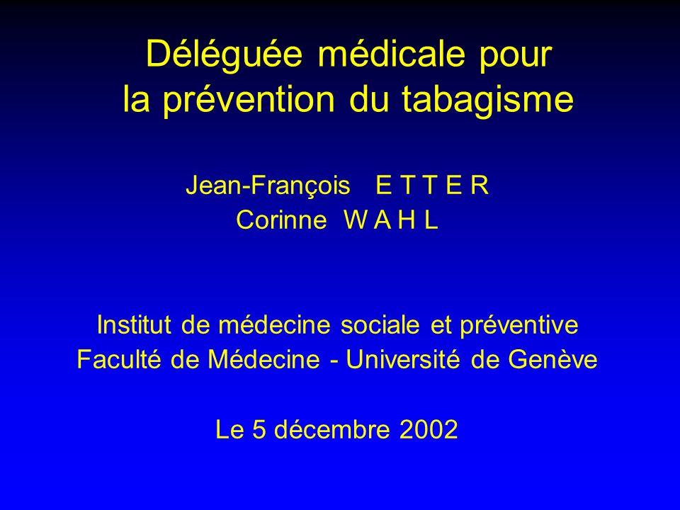 Déléguée médicale pour la prévention du tabagisme