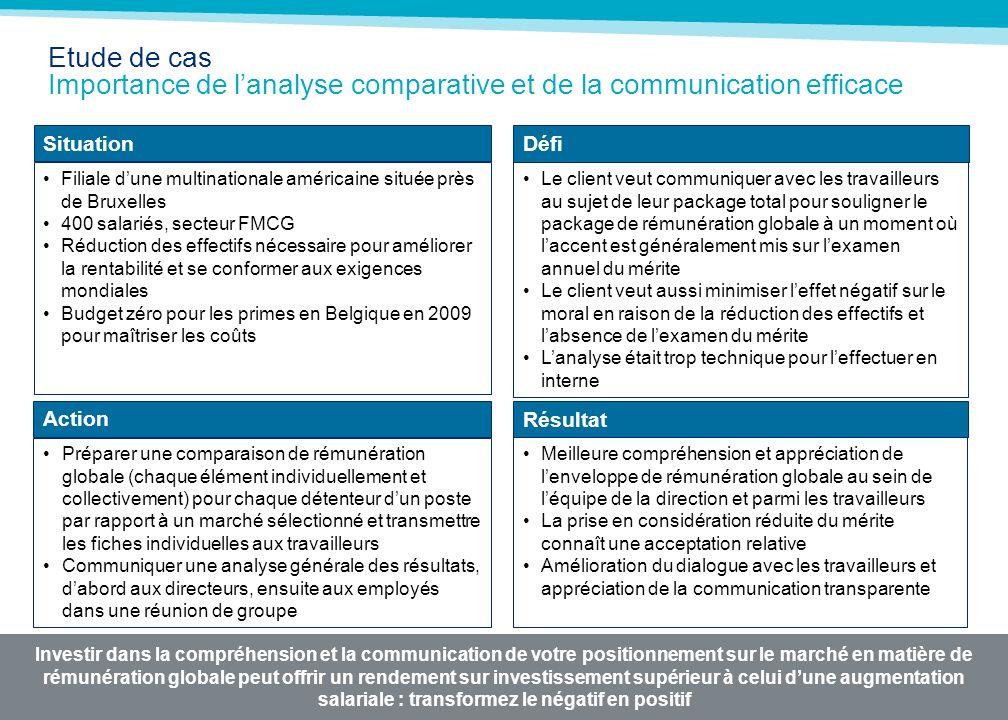 Etude de cas Importance de l'analyse comparative et de la communication efficace /2