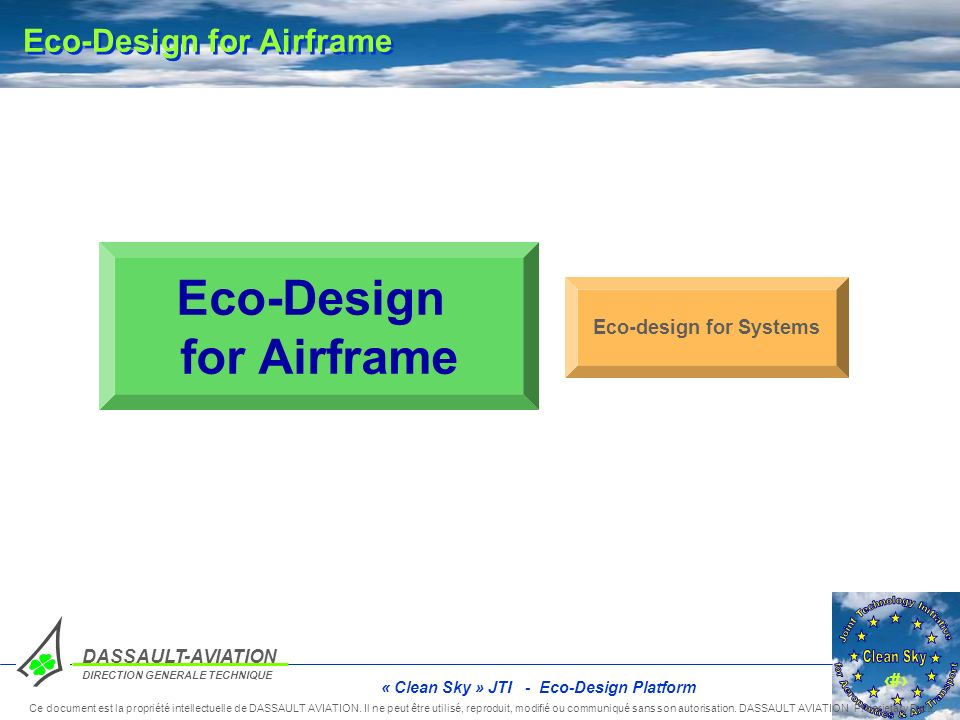 Eco-Design for Airframe