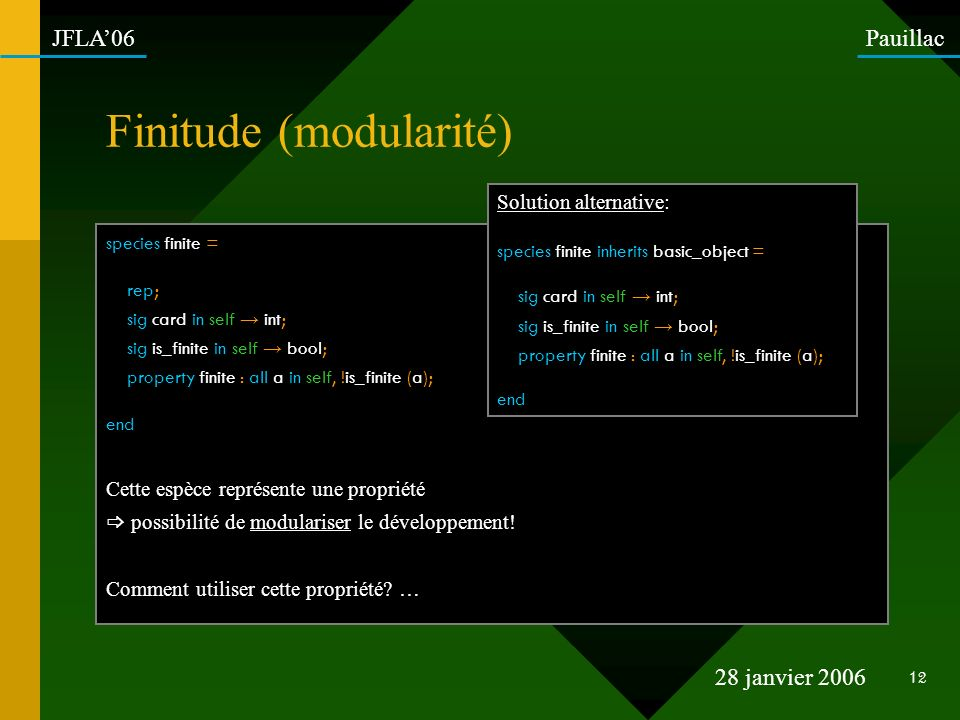 Finitude (modularité)