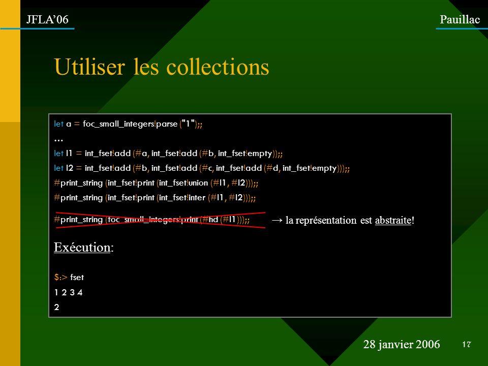 Utiliser les collections