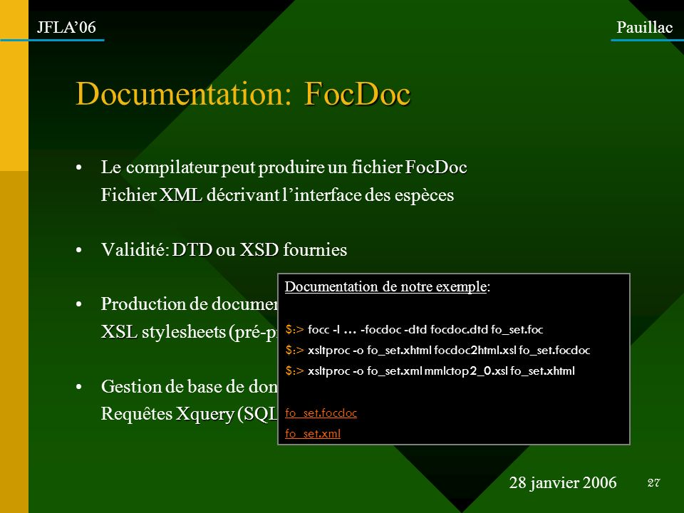 Documentation: FocDoc