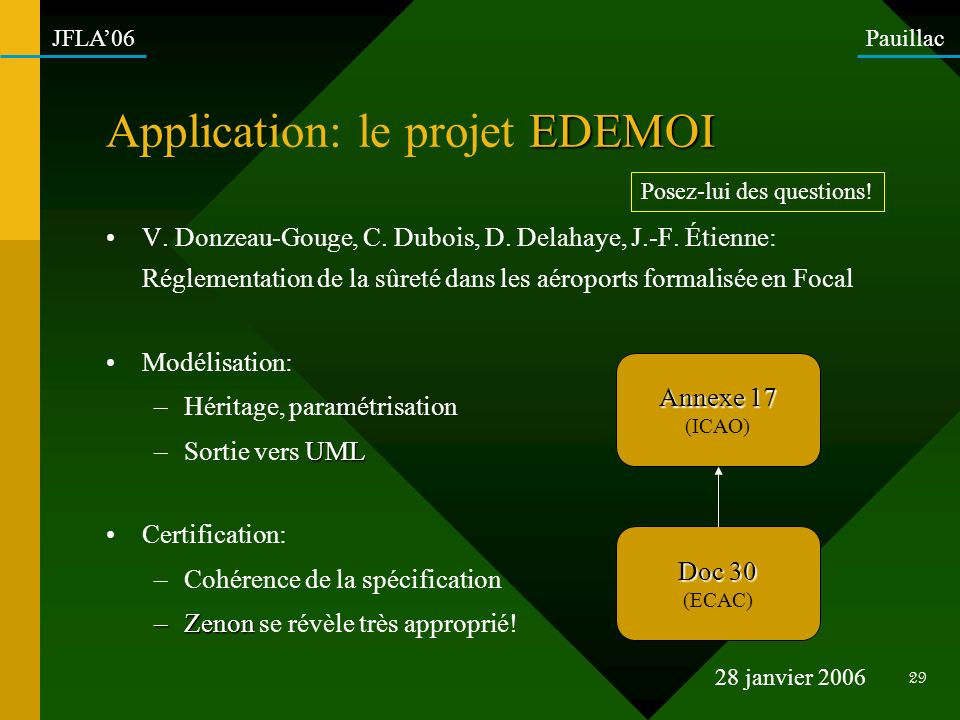 Application: le projet EDEMOI