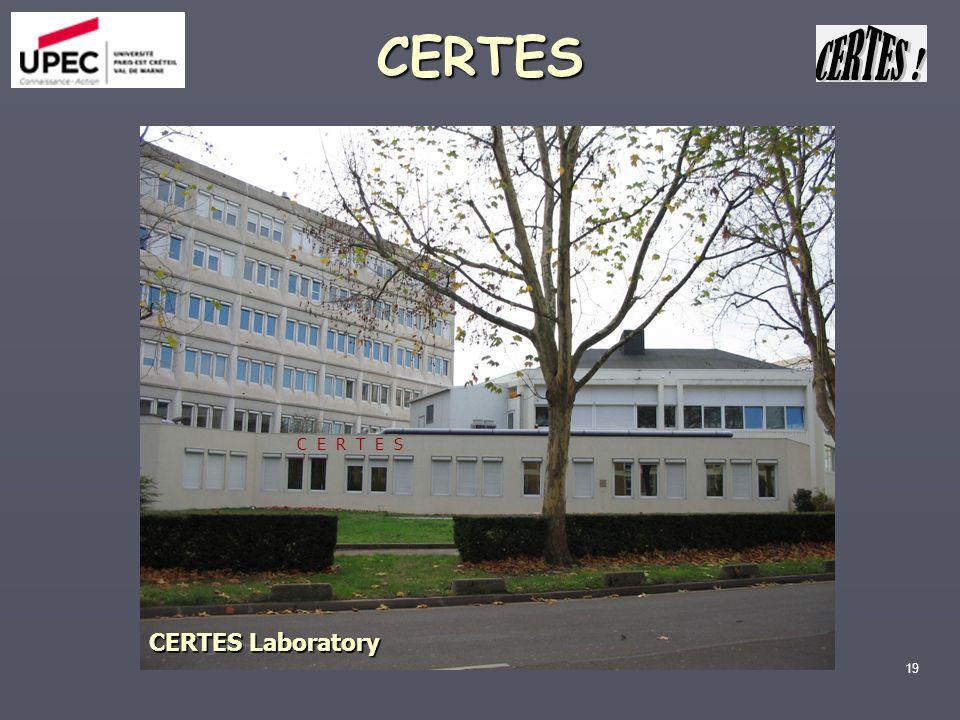 CERTES CERTES Laboratory C E R T E S