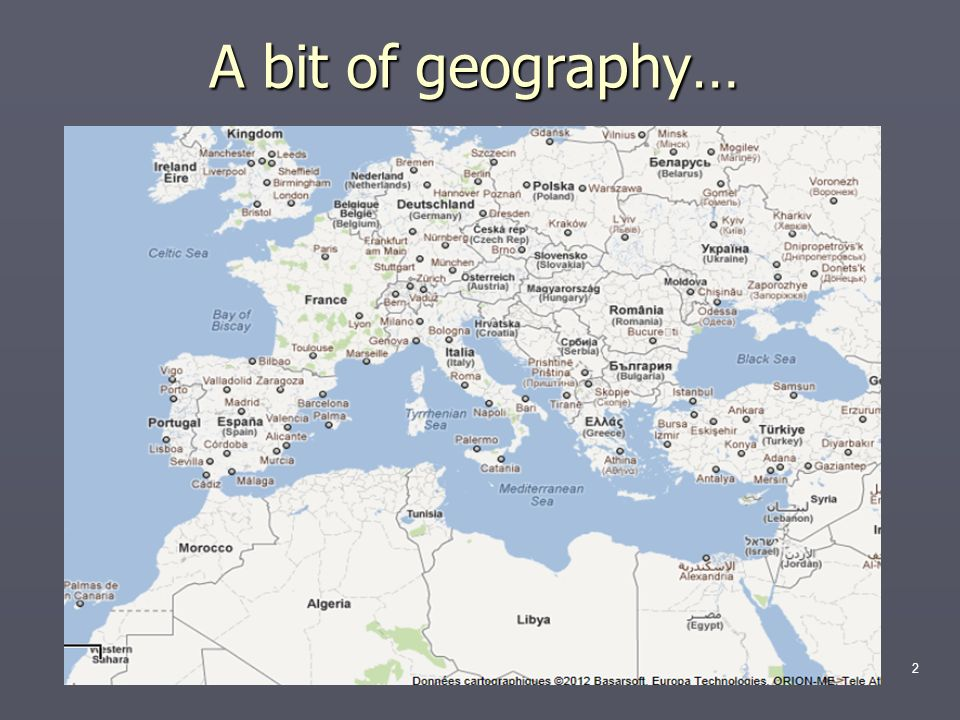 A bit of geography…