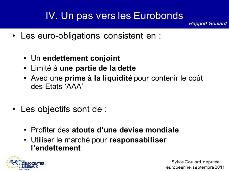 IV. Un pas vers les Eurobonds