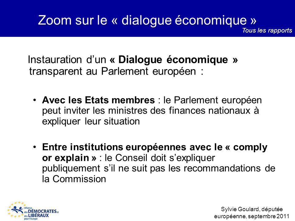 Zoom sur le « dialogue économique »