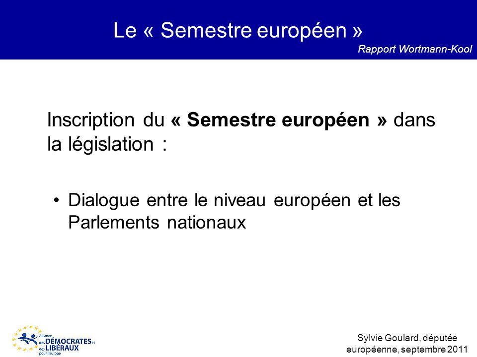 Le « Semestre européen »