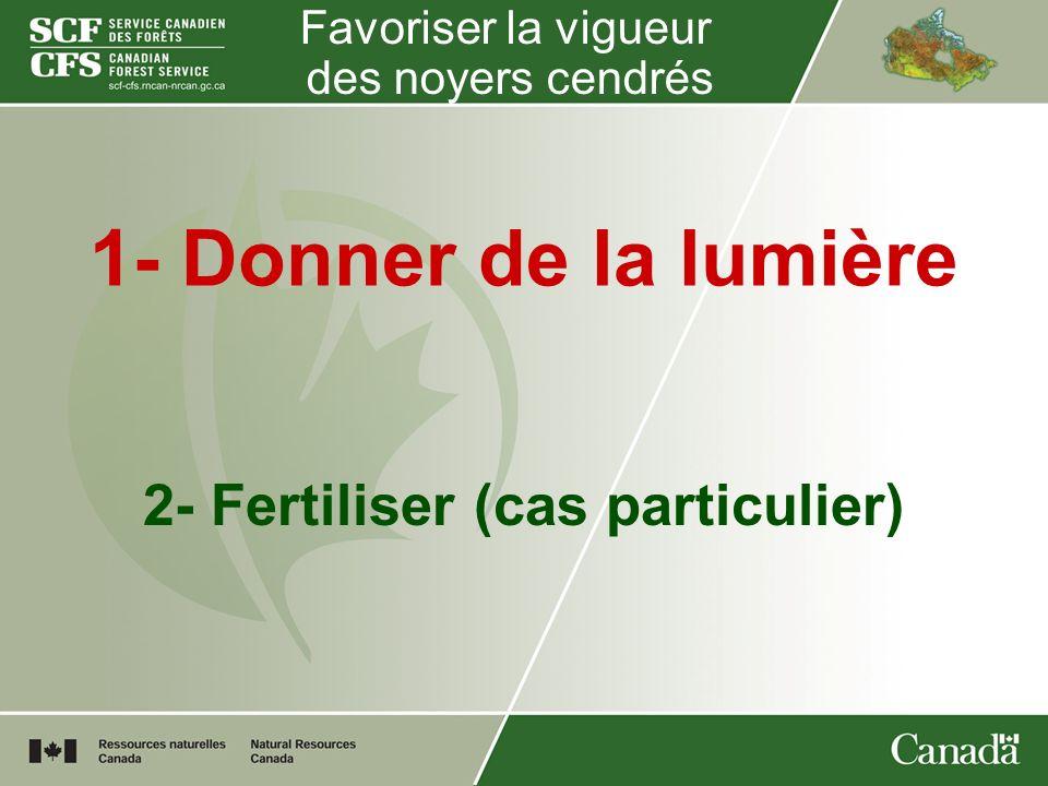 2- Fertiliser (cas particulier)