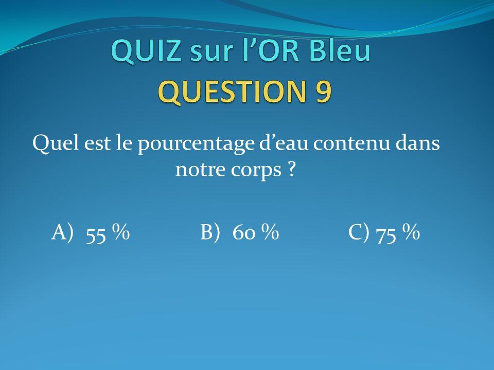 QUIZ sur l'OR Bleu QUESTION 9