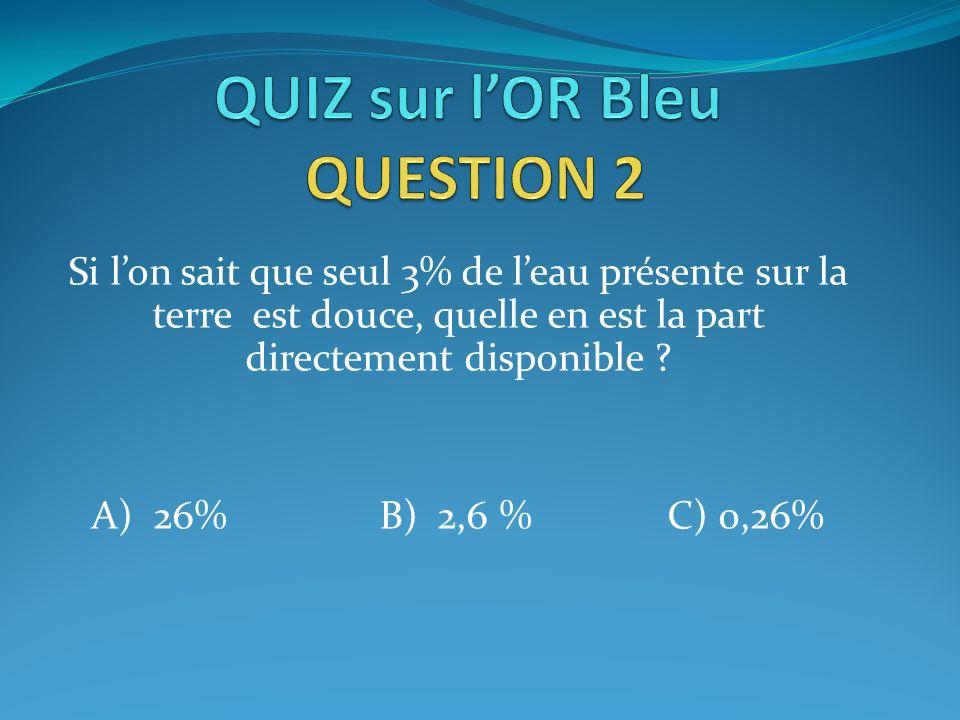 QUIZ sur l'OR Bleu QUESTION 2