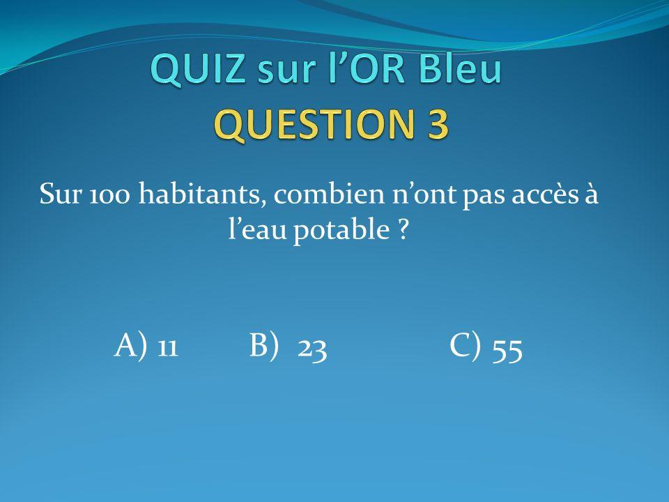 QUIZ sur l'OR Bleu QUESTION 3