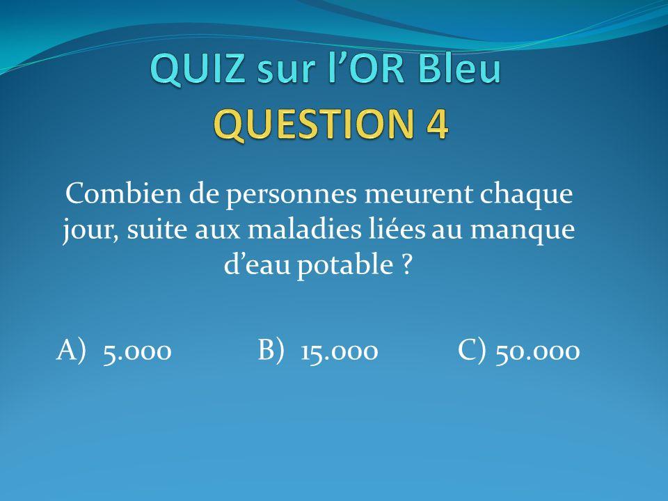 QUIZ sur l'OR Bleu QUESTION 4