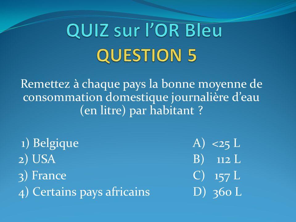 QUIZ sur l'OR Bleu QUESTION 5