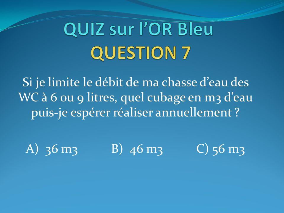 QUIZ sur l'OR Bleu QUESTION 7