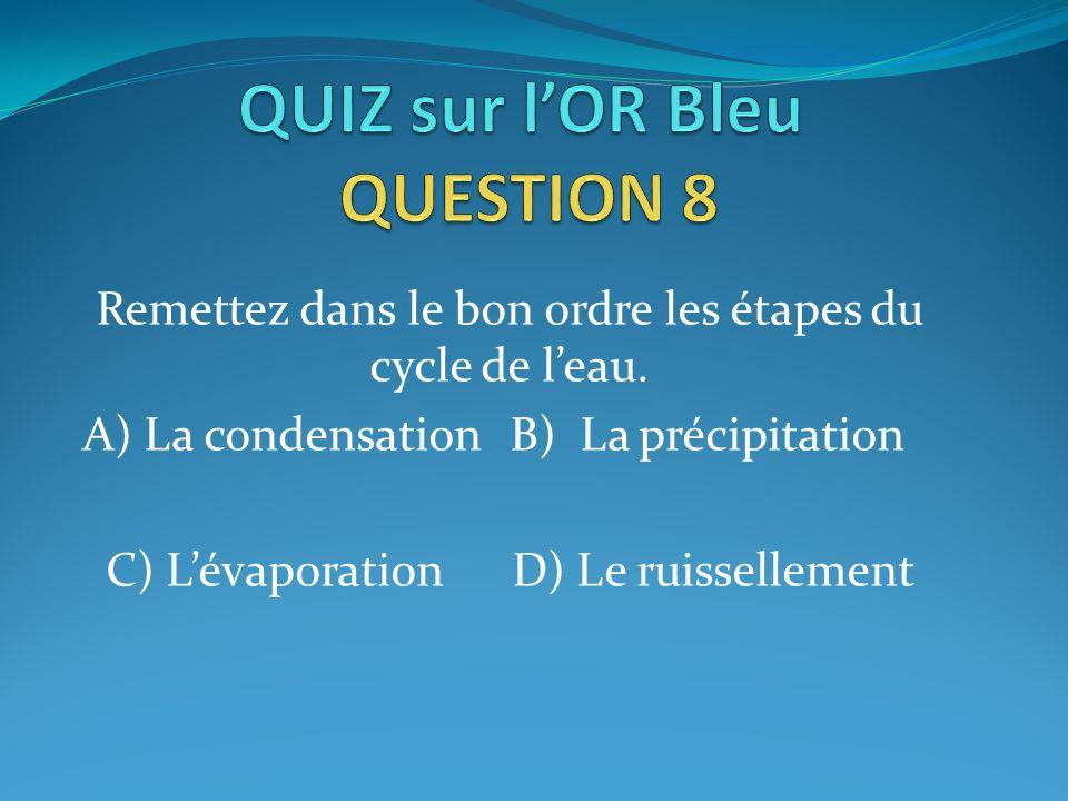 QUIZ sur l'OR Bleu QUESTION 8