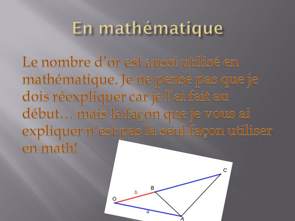En mathématique