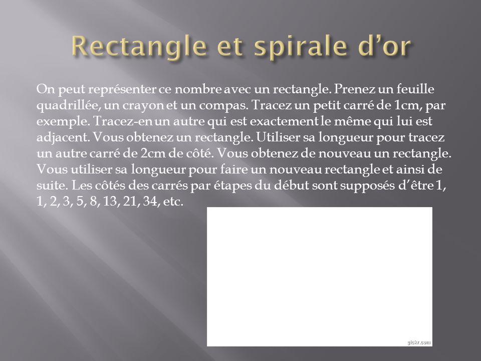 Rectangle et spirale d'or