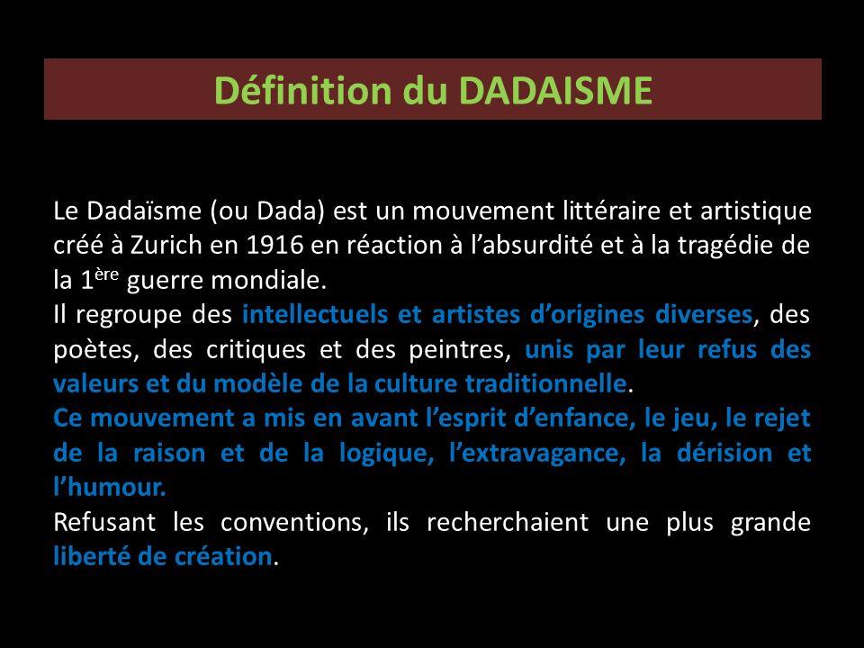 Définition du DADAISME