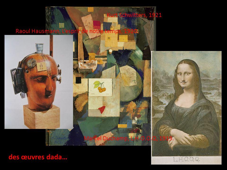 des œuvres dada… Kurt Schwitters, 1921
