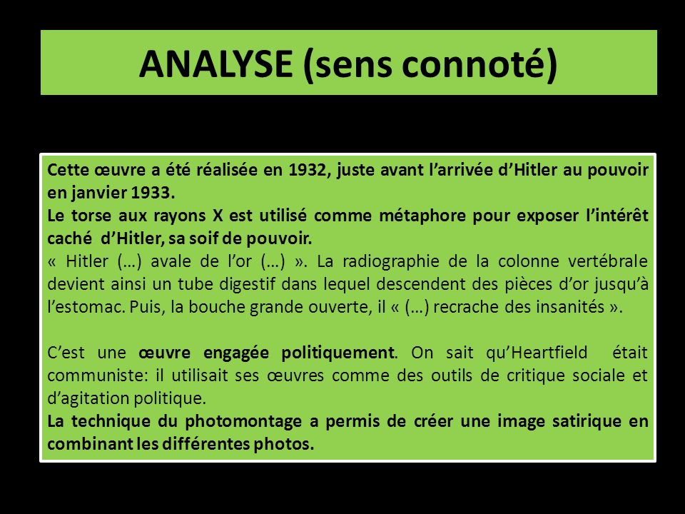 ANALYSE (sens connoté)