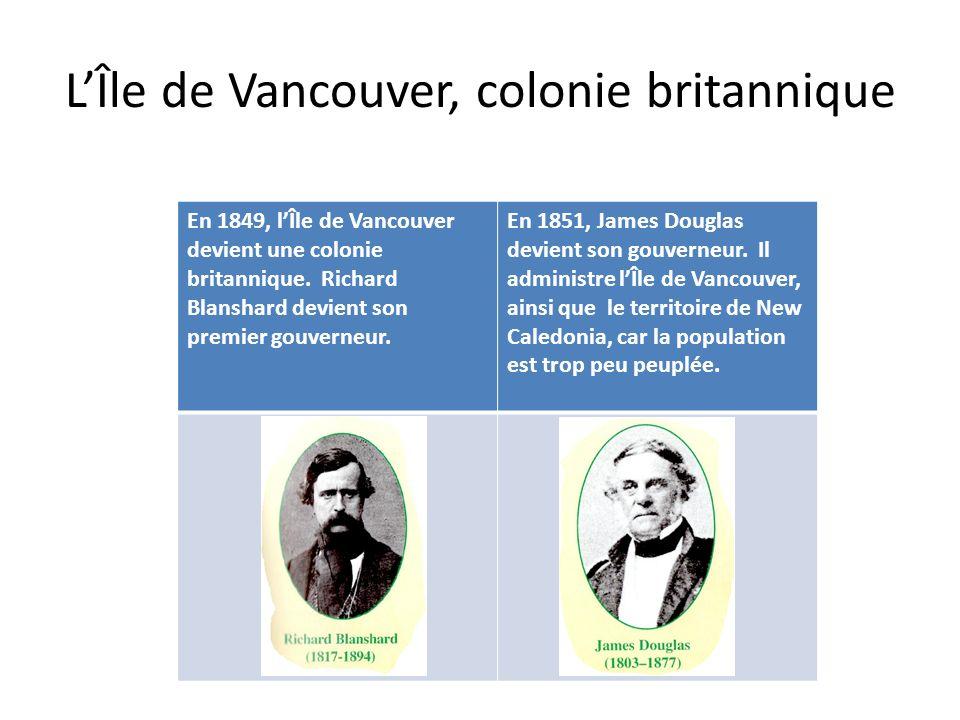 L'Île de Vancouver, colonie britannique