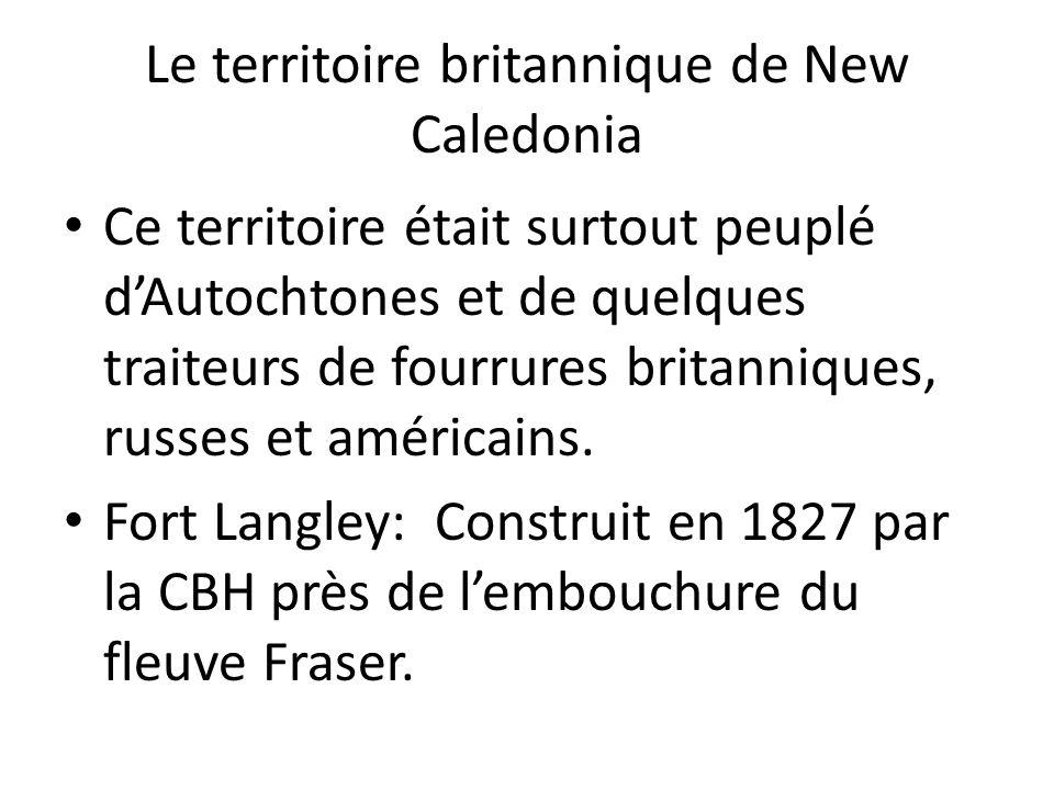 Le territoire britannique de New Caledonia