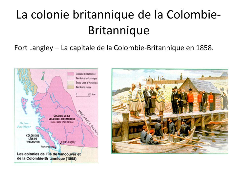 La colonie britannique de la Colombie-Britannique