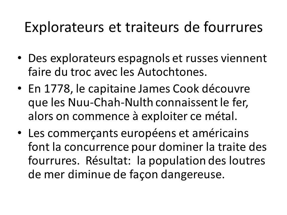 Explorateurs et traiteurs de fourrures