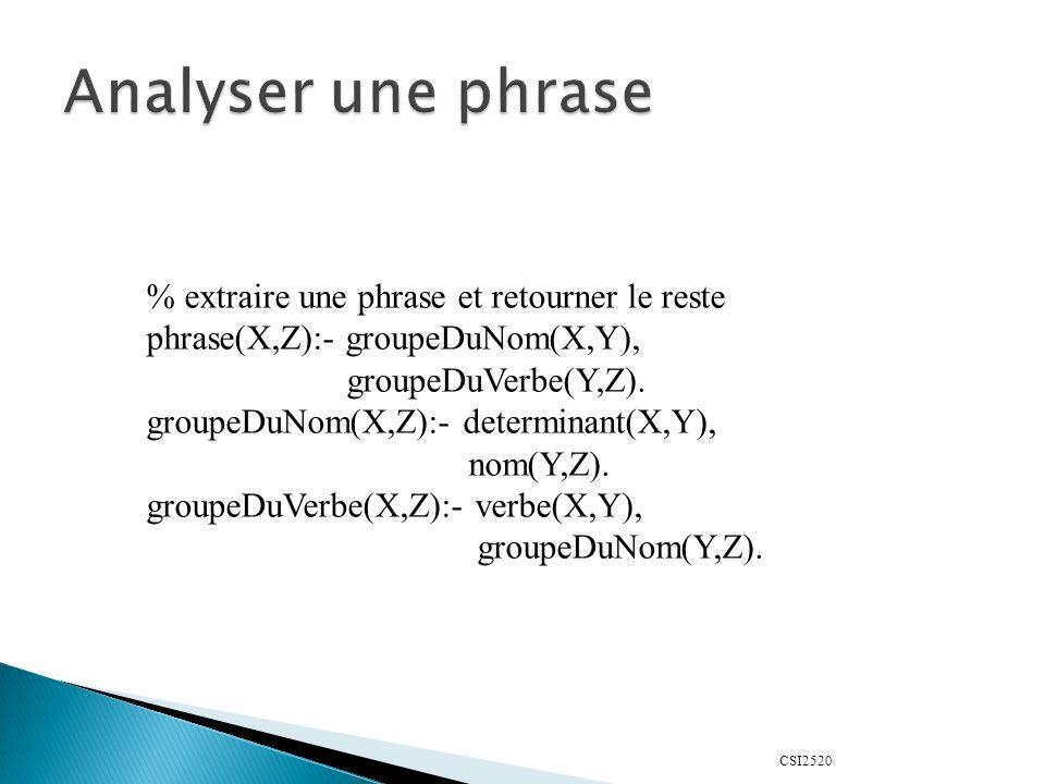 Analyser une phrase % extraire une phrase et retourner le reste