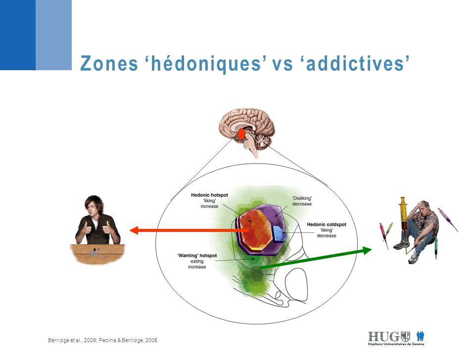 Zones 'hédoniques' vs 'addictives'