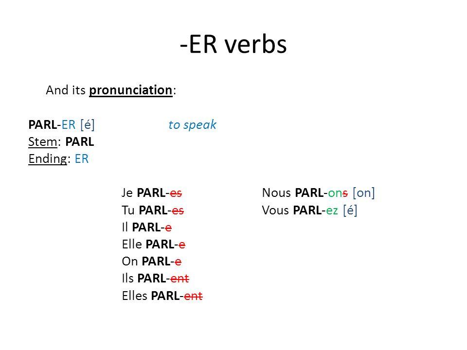 -ER verbs