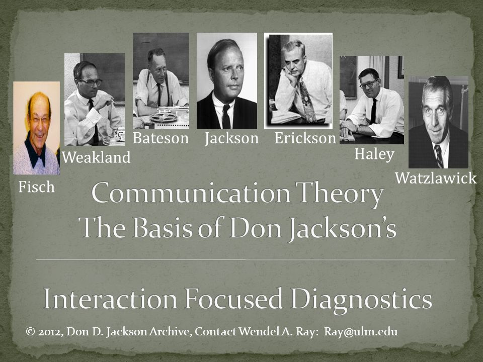 Bateson Jackson Erickson