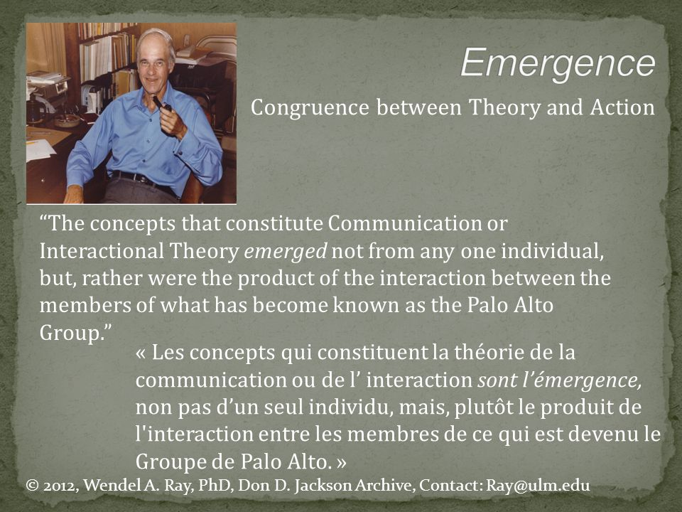 Emergence Congruence between Theory and Action