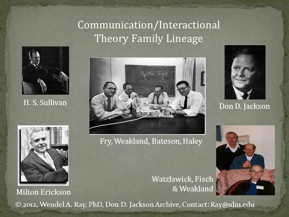 Communication/Interactional Theory Family Lineage