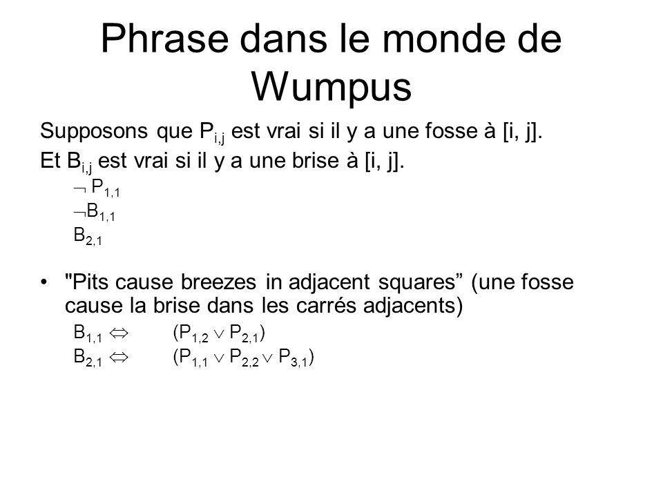 Phrase dans le monde de Wumpus