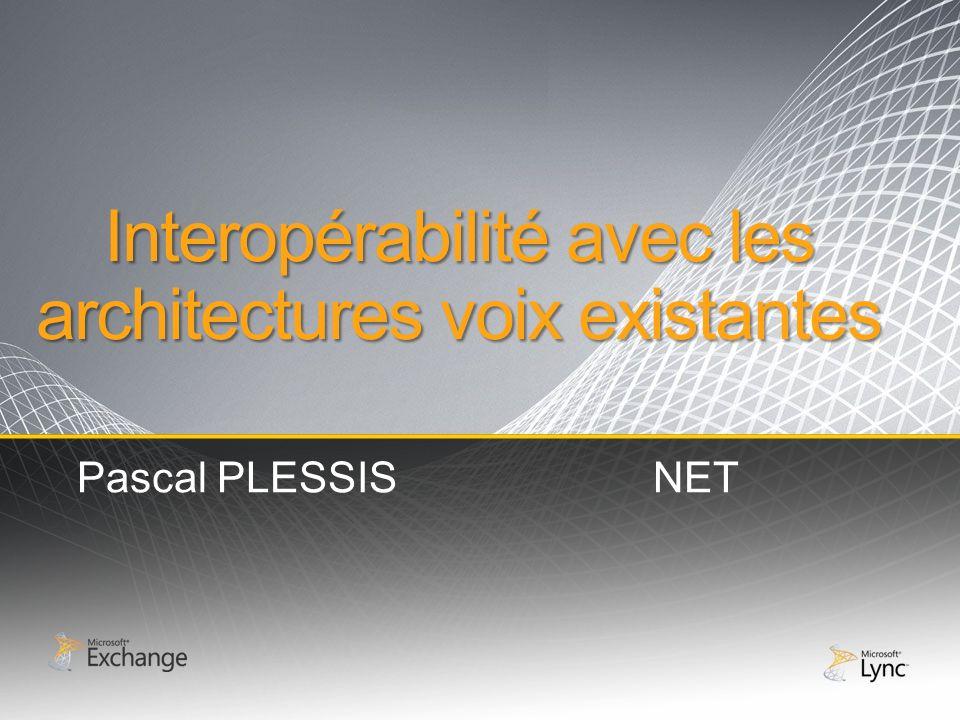 Interopérabilité avec les architectures voix existantes