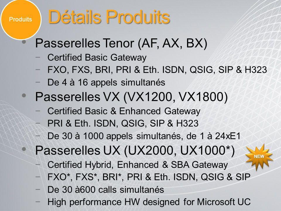 Détails Produits Passerelles Tenor (AF, AX, BX)