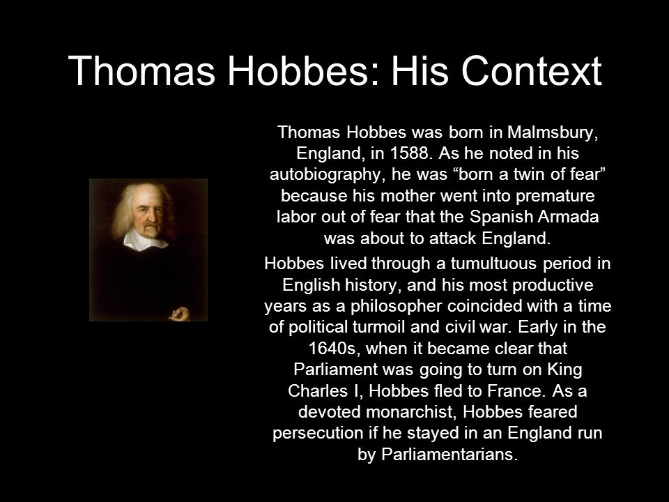 Thomas Hobbes: His Context