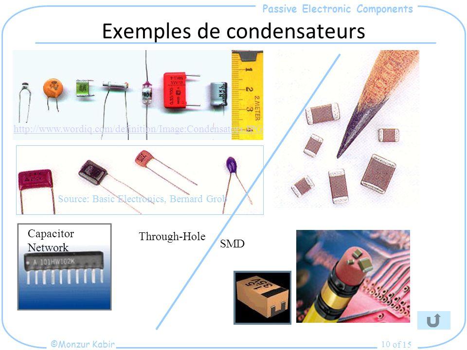 Exemples de condensateurs