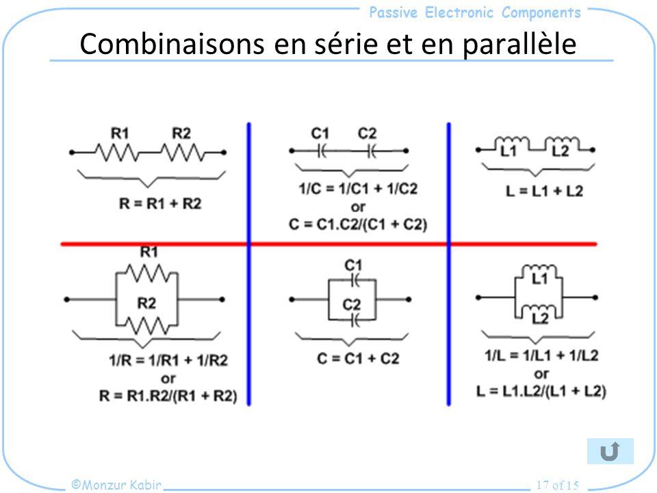 Combinaisons en série et en parallèle