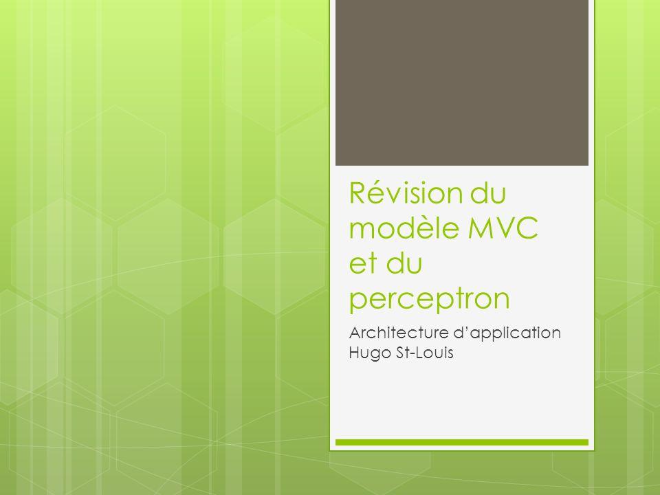 Révision du modèle MVC et du perceptron