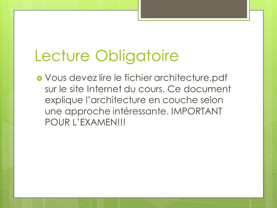 Lecture Obligatoire