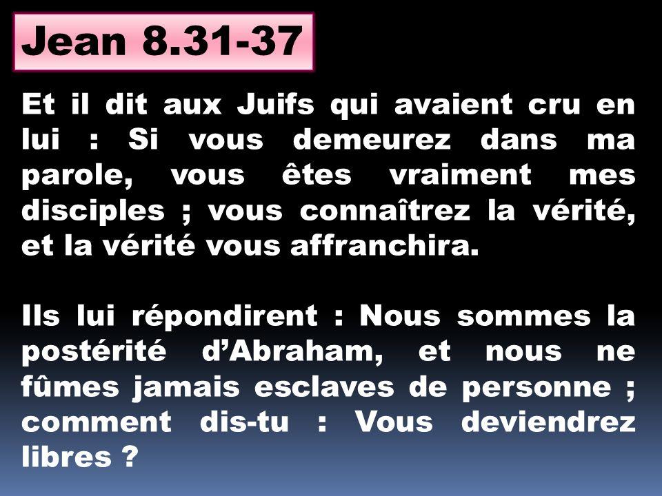Jean 8.31-37