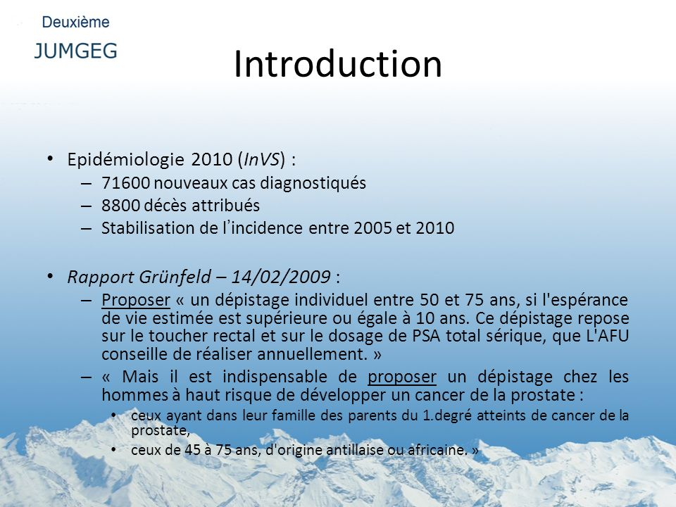 Introduction Epidémiologie 2010 (InVS) :