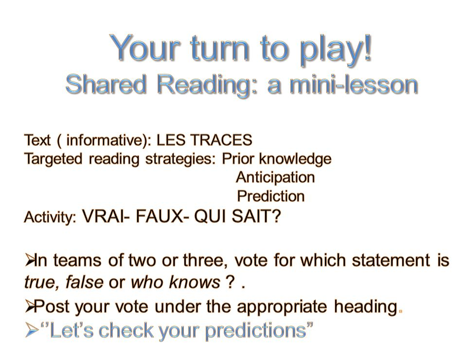 Shared Reading: a mini-lesson