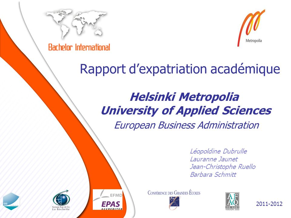 Rapport d'expatriation académique