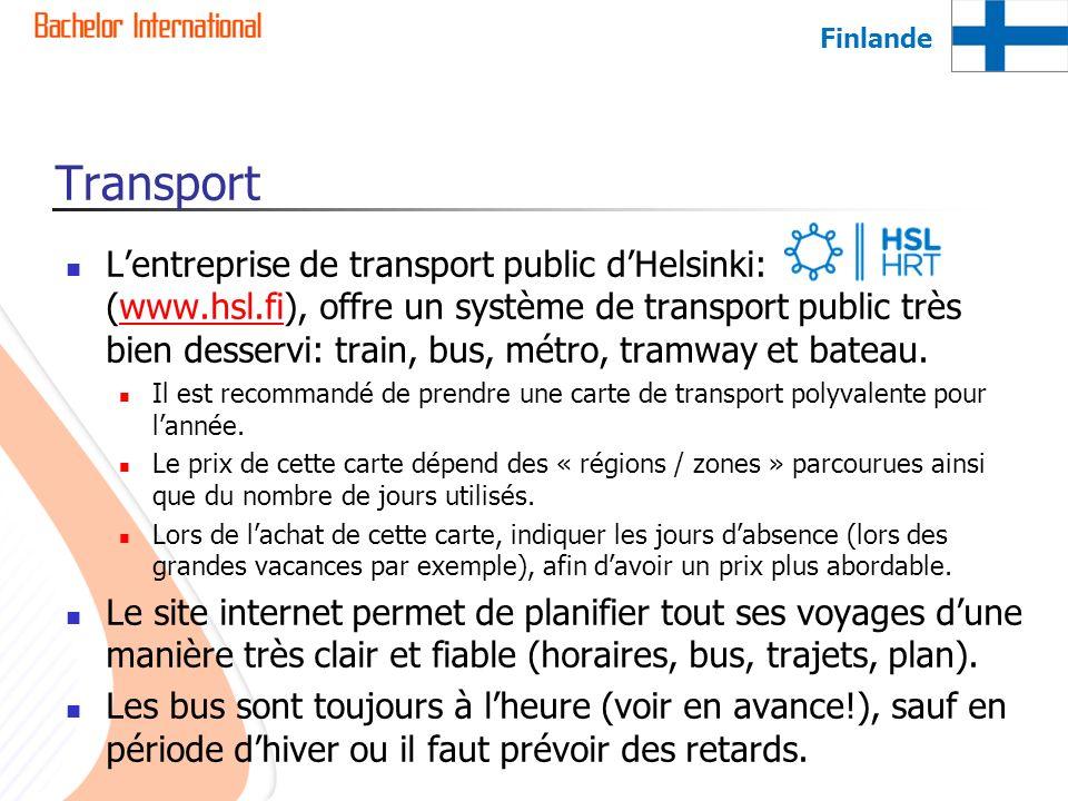 Finlande Transport.