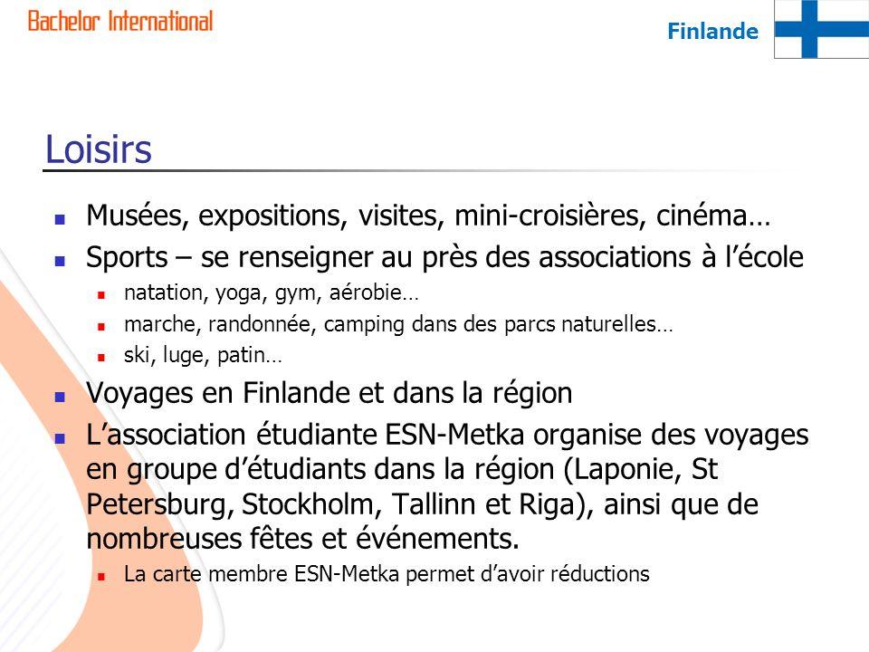 Loisirs Musées, expositions, visites, mini-croisières, cinéma…